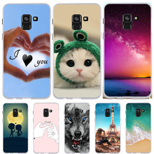 FOR Samsung Galaxy A8 2018 A530F Case Silicone Thin Cover For Cute Animal Bag Phone Cases