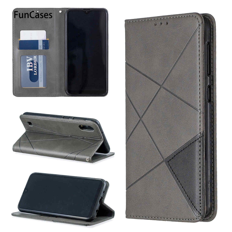 Funda trasera tipo billetera para Samsung A70 Capinha Samsung Galaxy carcaso A7 2019 A10 A20E A30 A40 A50 A750 con tapa caso de cartera libro