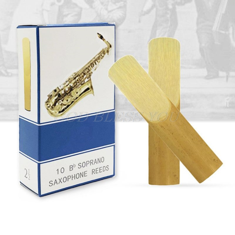 10pcs/set Alto/Soprano/Tenor Saxophone Reeds Strength 2.5 Bb Clarinet Reed