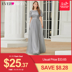 Image 1 - גלימת דה Soiree Sparkle ערב שמלות ארוך פעם די EP00904GY אונליין O צוואר קצר שרוול פורמליות שמלות נשים אלגנטי שמלות