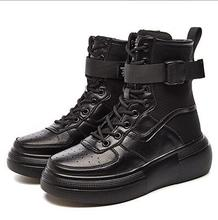 Womens Winter Boots Popular 6cm High Top Platform Sneakers Black Leather Ankle