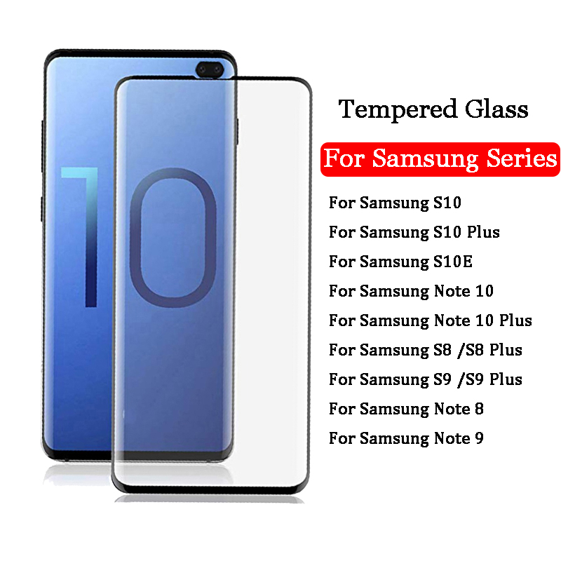 Protective Glass On The For Samsung Galaxy S10e S10 Plus S9 S8 Plus Note 8 9 10 Pro Note10 Tempered Screen Protector Glass Film
