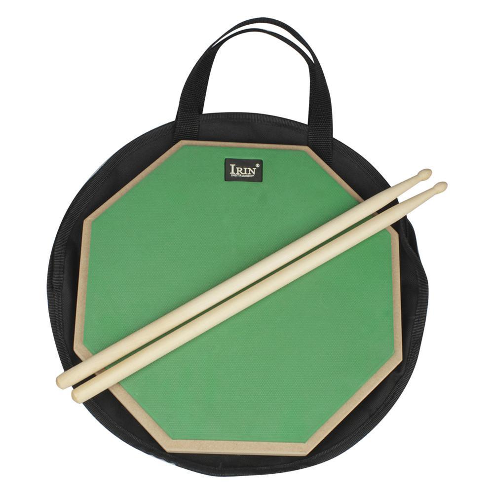3pcs ensemble de tambours muets batteur pratique outil d'entraînement Pad de tambour + sac + bâton de tambour d'érable percussions Instrument pièces accessoires