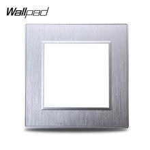 Wallpad S6 DIY Одиночная Серебряная панель, полированный Поликарбонат, пластик для настенного выключателя, имитация алюминиевой пластины, свобод...