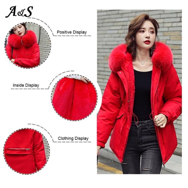 женская зимняя теплая куртка anbenser модное облегающее пальто фотография