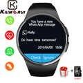 Intelligente Della Vigilanza Degli Uomini di KW18 Bluetooth Orologi Smart Risposta Call TF Del Telefono Della Vigilanza di Frequenza Cardiaca Pedometro SIM Smartwatch per Android IOS
