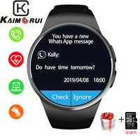 Smart Uhr Männer KW18 Bluetooth Smart Uhren Herz Rate Schrittzähler SIM Smartwatch Antwort Anruf TF Telefon Uhr für Android IOS