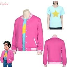 Movie Steven Universe Quartz cosplay Men Baseball uniform Unisex Coat T-Shirt Jacket Tee Top T Shirt Halloween Costumes full set(China)