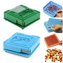 Машина для наполнения капсул с 100 отверстиями инструмент ABS доска прочный пищевой ручной DIY порошок Быстрый инкапсулятор фармацевтический