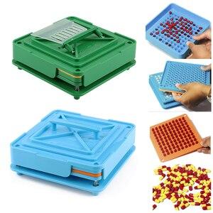 Image 1 - 100 穴カプセル充填機ほどサイズツール ABS ボード耐久性のある食品グレードマニュアル Diy の粉体高速エンキャプ製薬