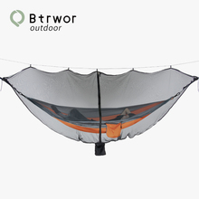 Btrwor Hammock mosquito net Outdoor Travel portable nylon  Anti-mosquitoLightweight Camping Hammock, 1 to 2 Person