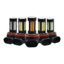 2 шт светодиодные лампы 55 Вт h8 h11 hb4 hb3 9006 9005 s 6000k