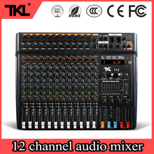 TKL T12 Professional stage 12 channel audio DJ mixer Bluetooth sound mixer audio karaoke phantom power 48V USB jack