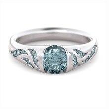 Moda senhora anel clássico anéis de casamento feminino multicolorido linha anel de cristal para feminino jóias presente de aniversário