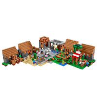 Village Building Block With Villager Steve Alex Action Figure Compatible MinecraftINGlys 21128 My World Bricks Set Gifts Toys