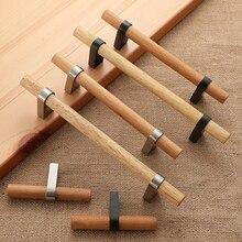NICEDUNE tirador de mueble de madera, accesorio para muebles, pomos de cajón, mango de cocina Natural, tiradores de muebles