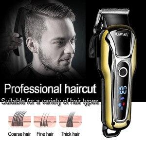 Image 4 - Kemei tondeuse à cheveux professionnelle électrique, outil pour coiffeur à 5 vitesses