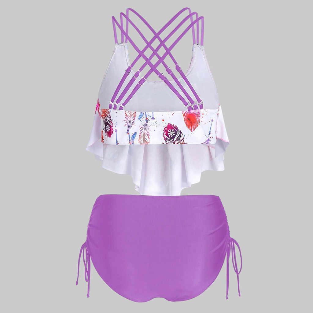 2020 مجموعة البكيني الموضة النساء Tankini مجموعات السيدات مجموعة البكيني ملابس السباحة رفع مبطن البرازيلي الصيف السباحة #30