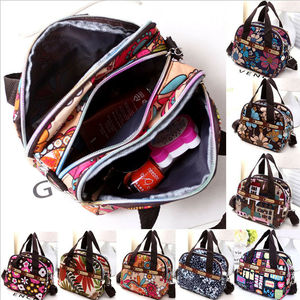 Women Portable Canvas Large Cosmetic Bag