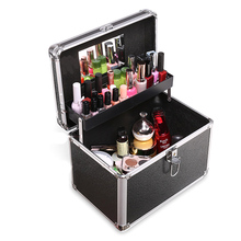 Bolsa para cosméticos feminina, bolsa necessaire para armazenamento de cosméticos e itens de arte de unha, para viagens