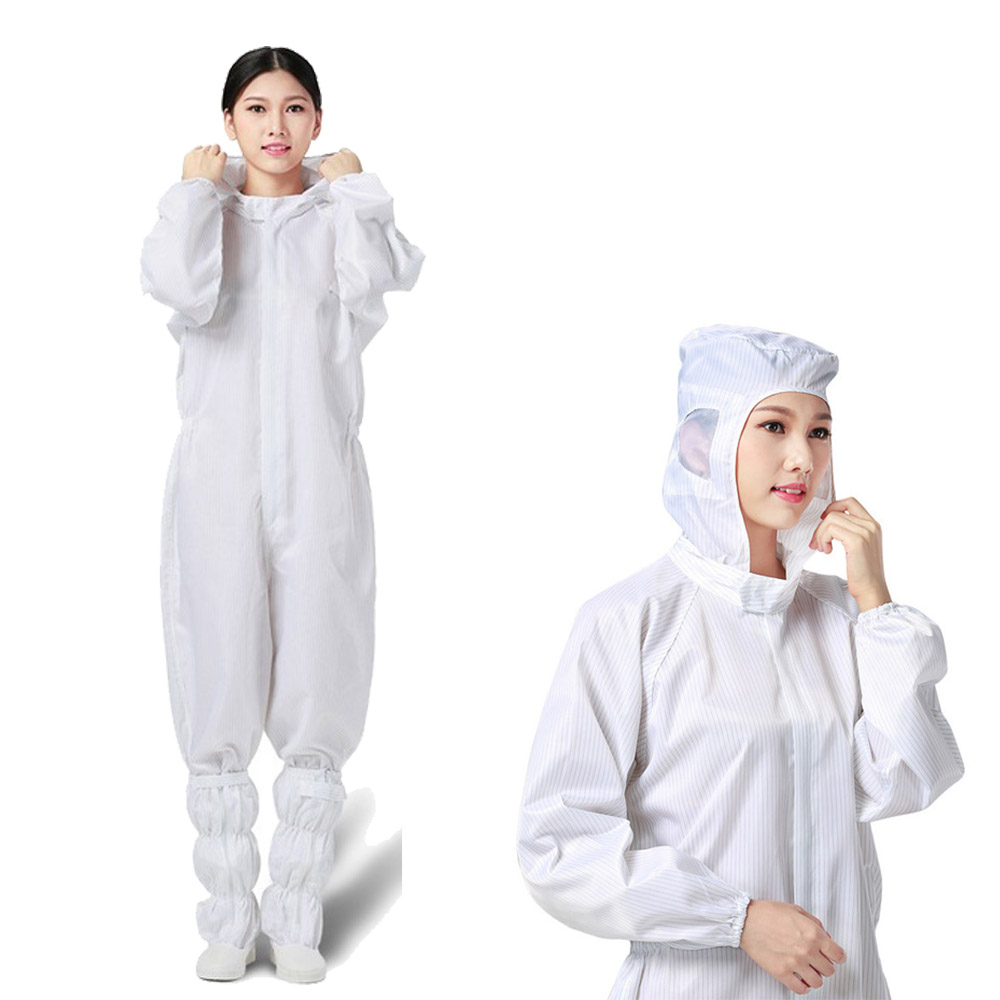 Reusable Protective Clothing Isolation Suit Waterproof Hooded Raincoat Overalls Dust-Proof Paint Spray Full Body Work Coveralls