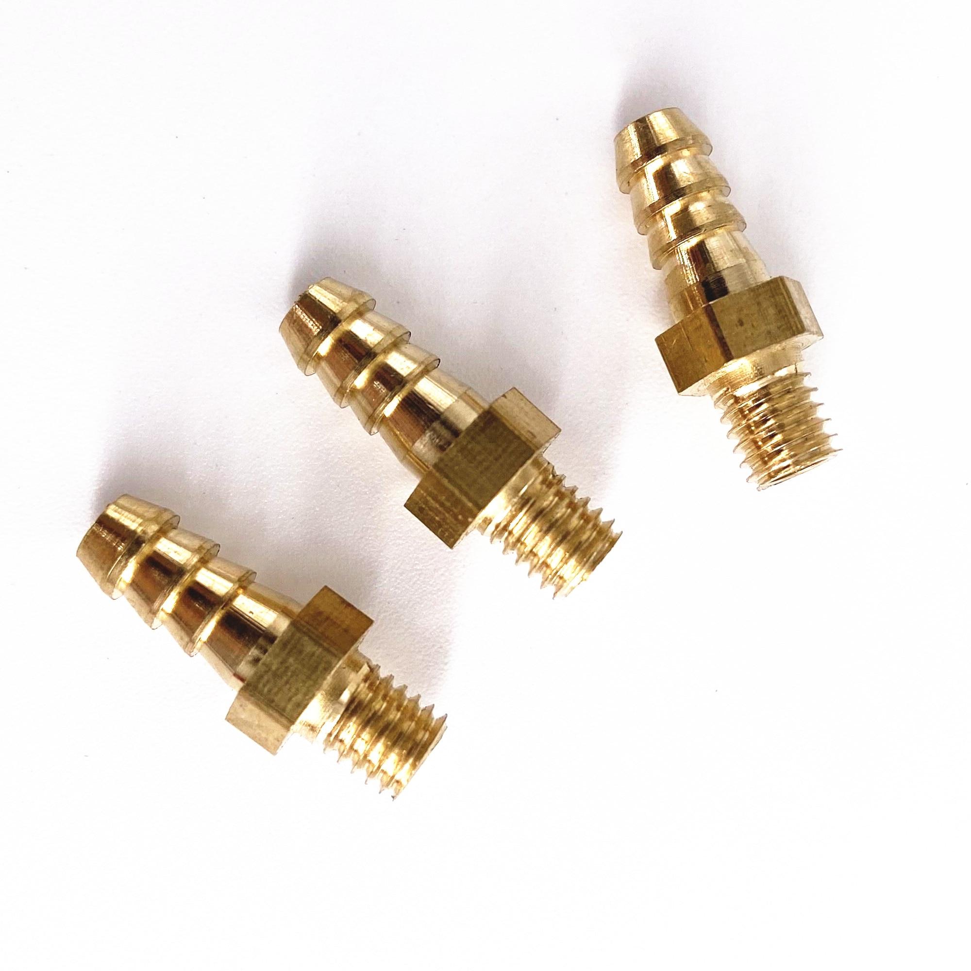 5 шт. M4 M5 M6 M8 Метрическая наружная резьба до 3 мм 4 мм 5 мм 6 мм 8 мм 10 мм шланг с зазубриной OD латунный фитинг с зазубринами соединитель для труб