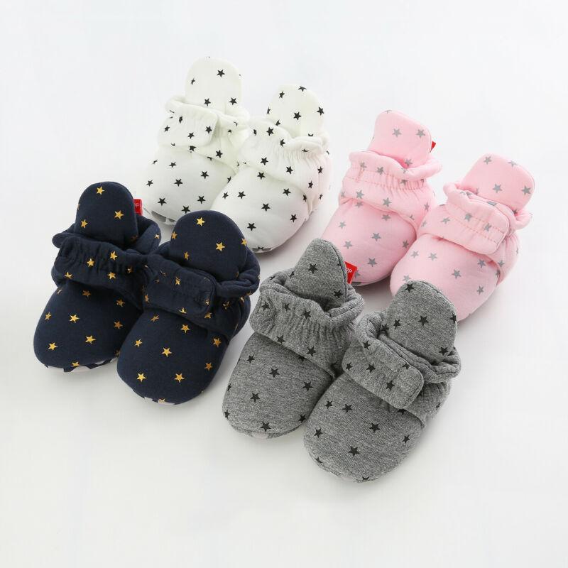 Emmababy Newborn Baby Soft Warm Crib Shoe Infant Boy Girl Boots Booties Prewalker First Walker Shoes 0-18M