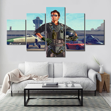5 Piece Grand Theft Auto Online Game Poster HD Cartoon Wall Pictures GTAOL Painting Canvas Art Paintings for Home Decor