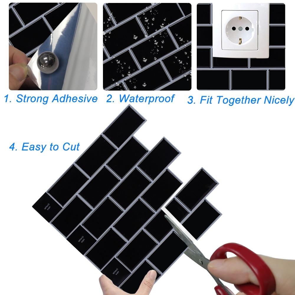 Большой 3D Водонепроницаемый самоклеющиеся обои наклейки пилинг и палка щитки плитки кухня ванная комната мозаика виниловые обои|Наклейки на стену|   | АлиЭкспресс