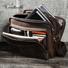 CONTACT'S 100% Genuine Leather Crossbody Bags for Men Casual