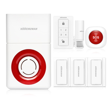 Sistema de alarma de seguridad para el hogar, sistema de alarma de Casa GSM inalámbrico, SMS, llamada remota, Soud ruidosa, 130db para batería de interior y exterior