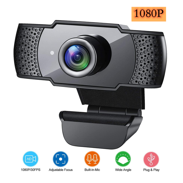 BENTOBEN HD 1080P Webcam with Microphone Auto Focus Video Record WebCamera for PC Gamer Streaming YouTube Conference Work 1