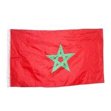 WN 60X90 90X150cm maroko flaga narodowa banner narodowy do dekoracji wnętrz