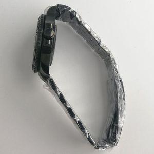 Image 2 - 最新のホット 40 ミリメートルパーニスステンレスブラック pvd ケース硬化ミネラルサファイアガラスフィット 2828 2836 miyota 82 運動メンズ時計ケース