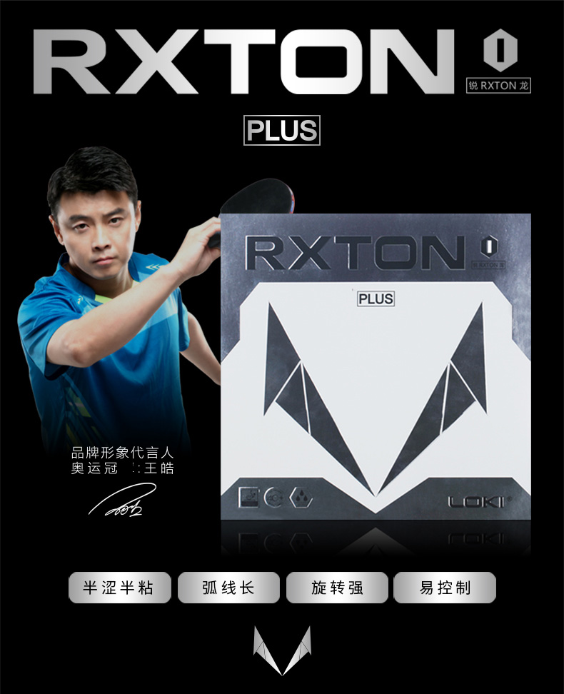 WANG HAO LOKI ITTF RXTON 1 Plus High Speed Sponge Stacky Table Tennis Rubber/ Ping Pong Rubber