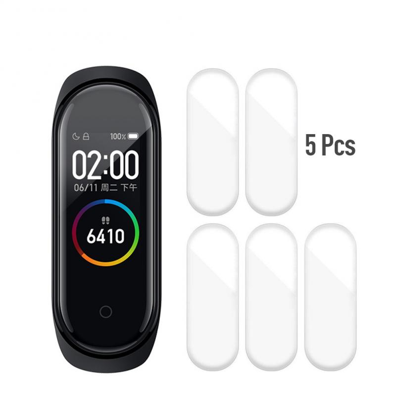 5Pcs Hydrogel Protective Film For Xiaomi Mi Band 4 Protection Film Full Screen Protector Not Tempered Glass
