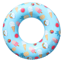 Inflatable Colorful Swimming Ring Safety Children Adult Pool Float Circle Summer Inflatable Pool Toy Kids Swimming Circle Cute