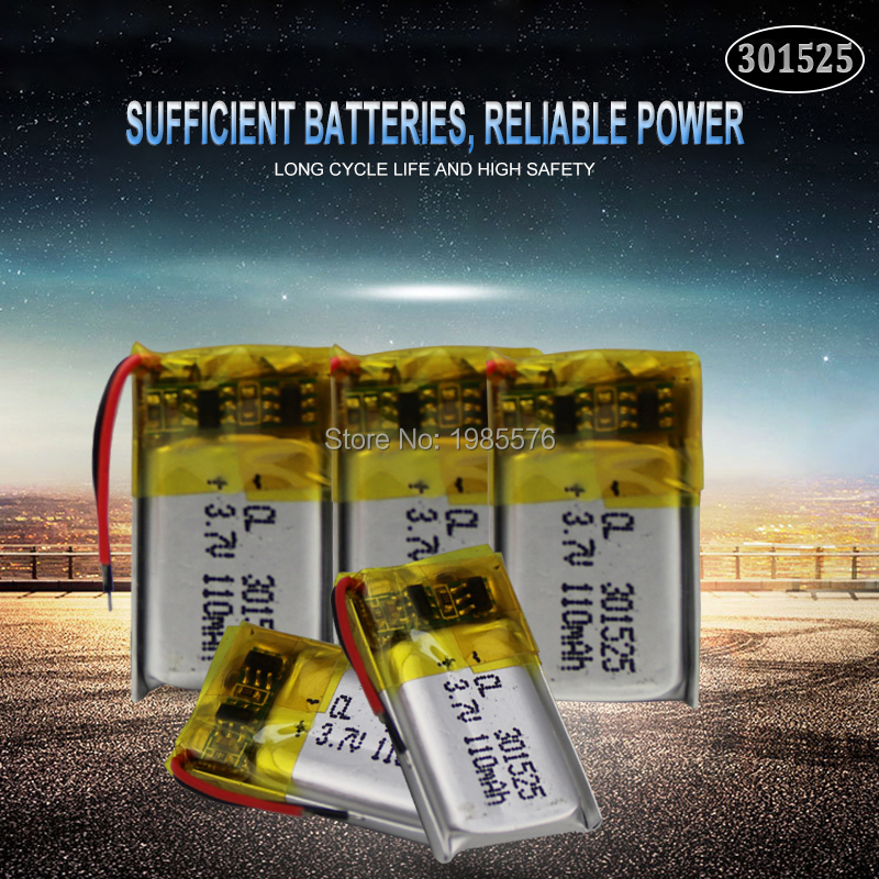 3.7V 110mAh <font><b>301525</b></font> ithium polymer battery for GPS PSP MP4 MP5 DVD small toys battery Bluetooth headset Li-ion Cell battery image