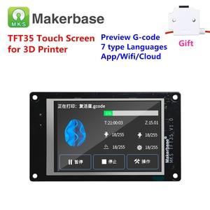 Image 1 - ثلاثية الأبعاد عرض الطابعة MKS TFT35 سحابة متصلة شاشة تعمل باللمس 3.5 بوصة لوحة ال سي دي 3.5 TFT رصد وحدة عرض كامل اللون