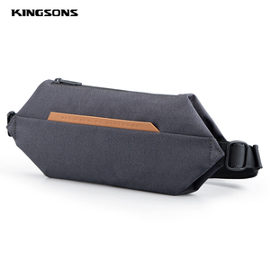 Kingsons New Crossbody Bags Dark Gray Light Gray Light Blue Color Adjustable Single Strap Geometric Hexagon Polyester Chest Bag