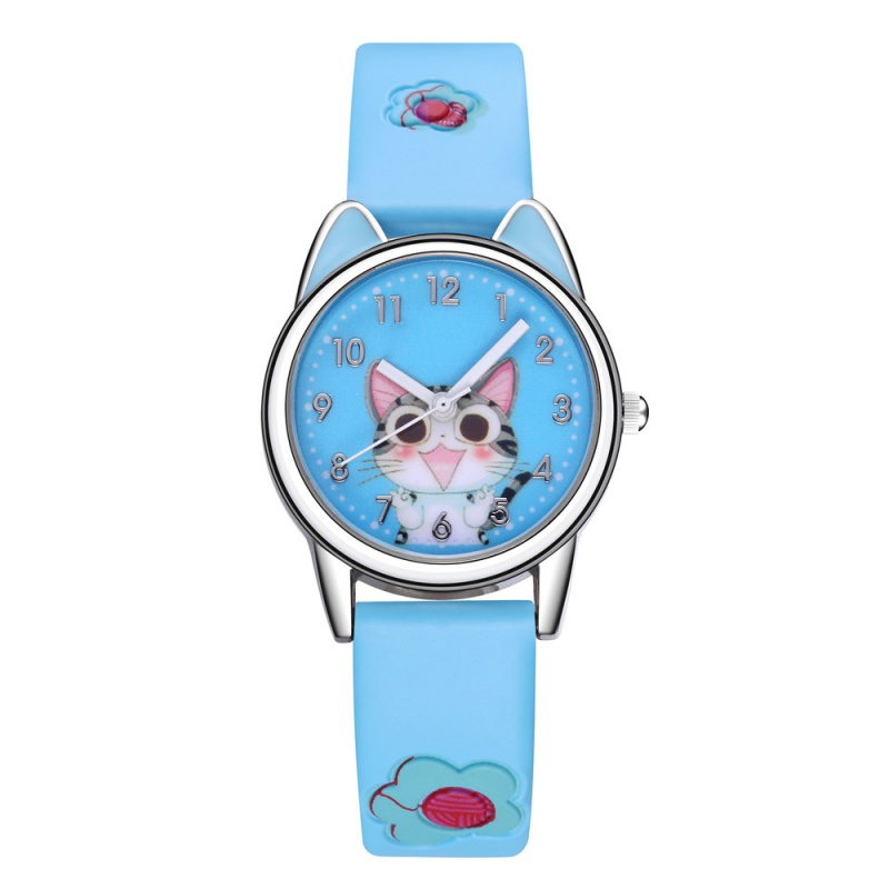Fashion Cute Cat Shaped Dial Leather Band Quartz Watch Simple Lovely Wristwatch For Women Fashion Accessory