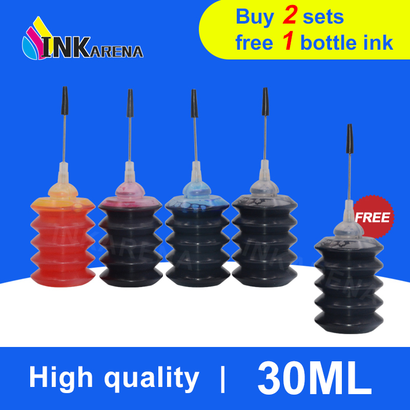 INKARENA Universal 4 Color 30ml Bottle Dye Ink Black Refill Ink Kit Replacement For HP For Canon For Brother For Epson Printer