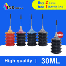 INKARENA Universal 4 Color 30ml Bottle Dye Ink Black Refill Ink kit Replacement For HP For Canon For Brother For Epson Printer(China)