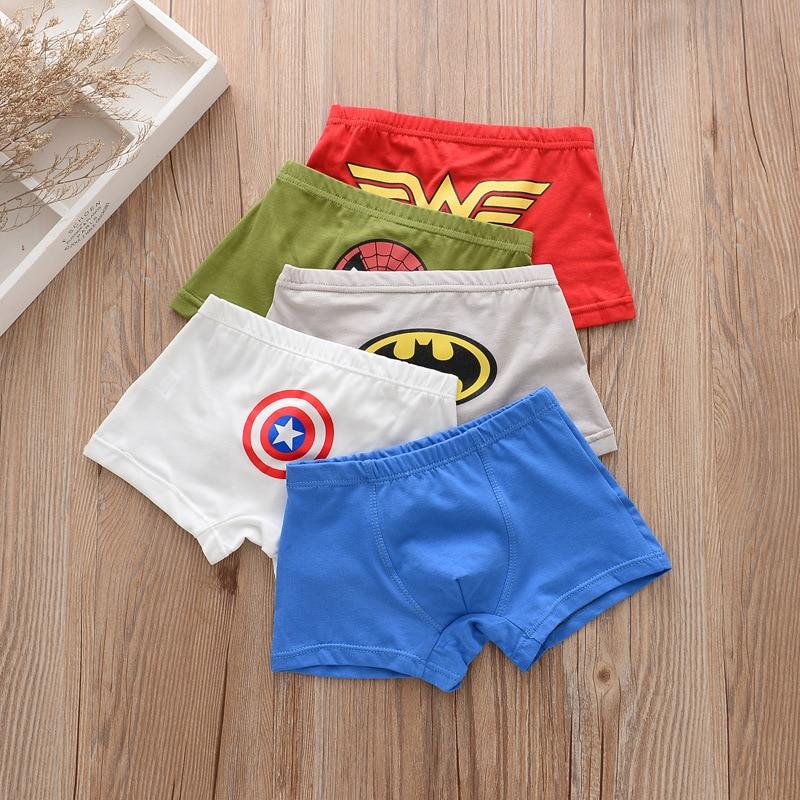 5pcs/lot Kids Boys Underwear Cartoon Children's Shorts Panties for Baby Boy Boxers Panty Teenager Underpants 2-14T BU013 2
