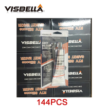 Buy VISBELLA 144pcs/carton RTV Grey Natural Gasket Maker High Temperature Silicone Sealant Rubber Moisture Proof Glue Car Engine directly from merchant!