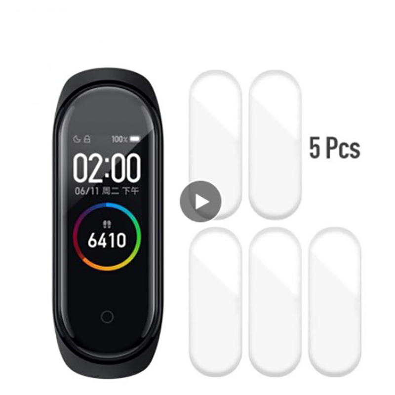 Full Cover Screen Hydrogel Film Smart Bracelet Protective Film 5 Pcs Tempered Glass Screen Protector For Xiaomi Mi Band 4 5