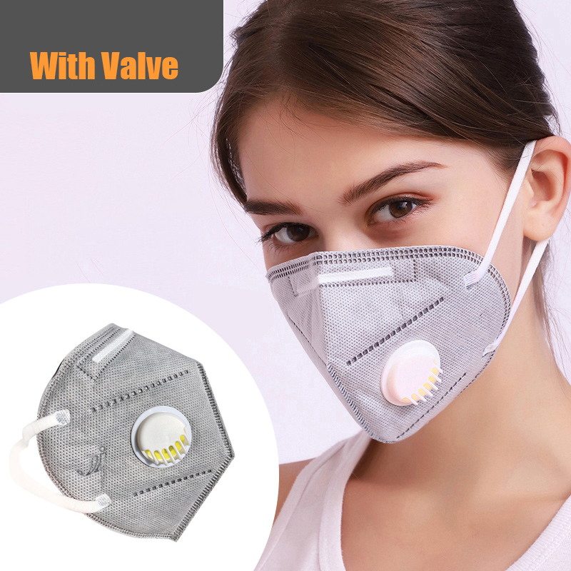 Adult Reusable Mask Colorful children's masks Anti PM2.5 Dust Masks JINJIANG mask valve mask ship Six- layers of protection