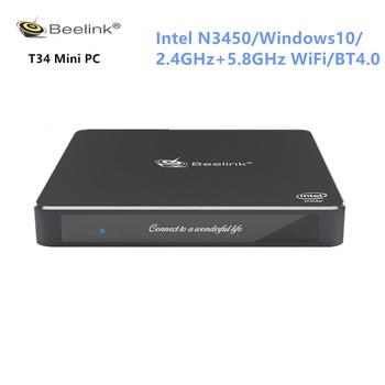 Beelink Gemini T34 Mini PC Intel Apollo Lake N3450 Windows10 8GB 128/256/512GB Dual Screen Display 2.4G/5.8G WiFi BT4.0 Mini PC