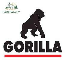 EARLFAMILY-pegatinas impermeables para coche, accesorios para Gorilla, 13cm x 10,7 cm, Tailandia, calcomanías de decoración de parachoques