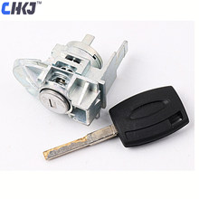 CHKJ OEM Left Door Lock Cylinder For Ford Fiesta With 1PC Key Replacement Auto Door Lock Cylinder Locksmith Tool(China)